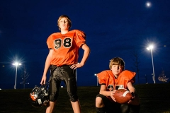 football portrait of brothers
