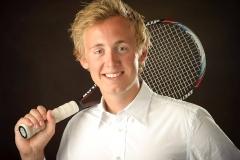 senior portrait of a tennis player