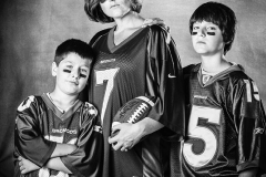Family football portrait