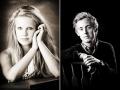 Bllack and White Senior Portraits