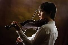 high school senior violin player