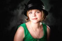senior girl wearing hat