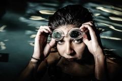 swimmer senior portraits