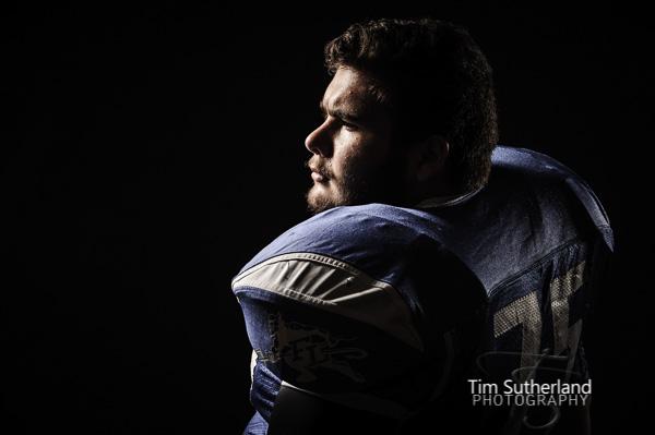 high school football portraits