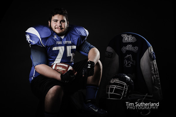 senior football portraits
