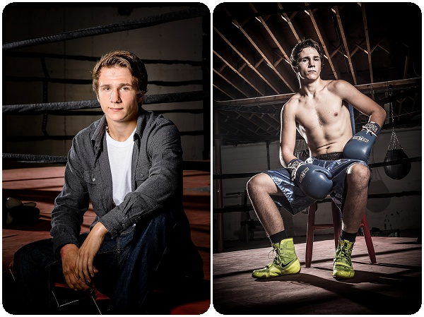 Senior portraits at the boxing gym